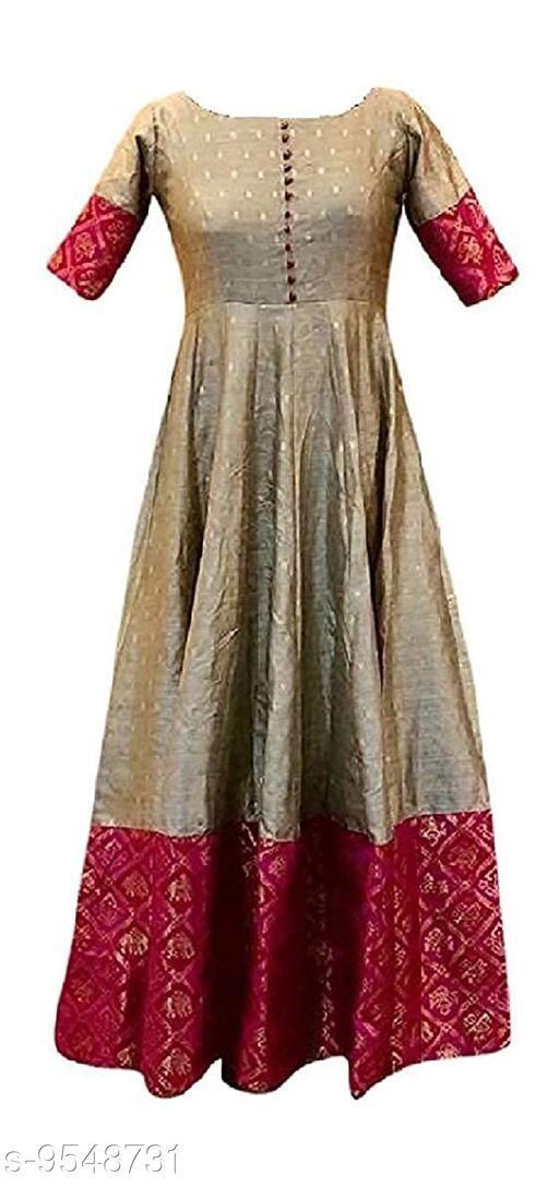 Trendy Banarasi Brocade Gown's Foe Women