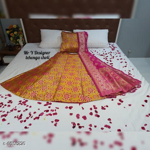 Lehengas Beautiful Lehenga  *Dupatta Fabric* Silk  *Sizes*  Semi Stitched  *Sizes Available* Semi Stitched *    Catalog Name: Charvi Pretty Women Lehenga CatalogID_1684613 C74-SC1005 Code: 4121-9551230-