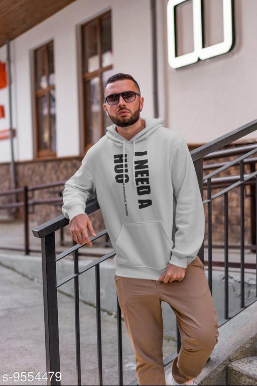 Men Top Wear Active Printed Cotton Hoodie Jacket