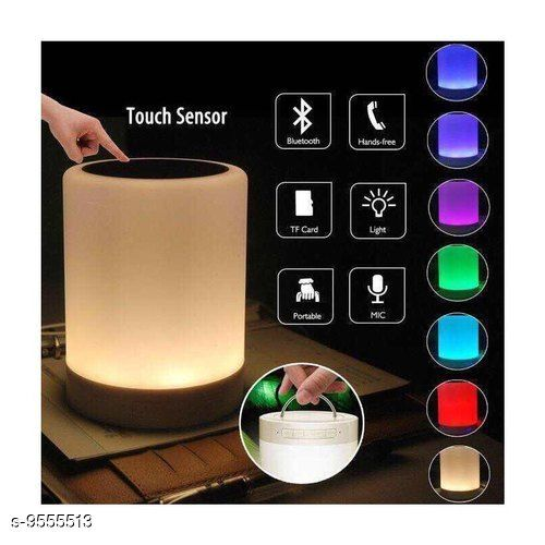 Wireless , USB Rechargeable Portable Different Lighting Modes LED Touch HiFi Light Lamp Bluetooth Speaker with TWS for Party Festival Camping
