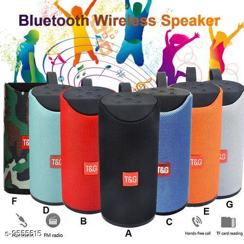 TG-113 Bluetooth Portable Stereo Speaker with Rich Bass | Loud Sound | Built-in Mic for All Smartphone Device (Assorted Colour)