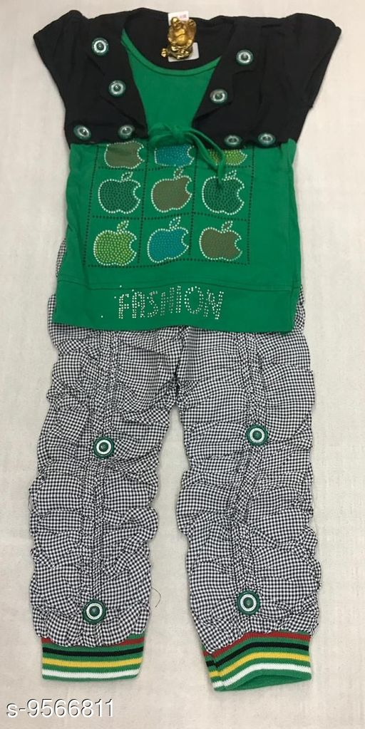 Jumpsuits WESTERN DRESS  *Fabric* Cotton  *Sizes*  3-4 Years  *Sizes Available* 3-4 Years *    Catalog Name: Flawsome Stylus Kids Girls Dungarees & Jumpsuits CatalogID_1688423 C62-SC1156 Code: 383-9566811-