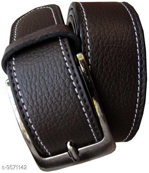 Belts Mens Stylish Belts  *Material* Leather  *Pattern* Solid  *Multipack* 1  *Sizes*   *36 Belt Length * 46  *40 Belt Length * 46  *34 Belt Length * 46  *42 Belt Length * 46  *Sizes Available* 34 *    Catalog Name: Casual Unique Men Belts CatalogID_1689530 C65-SC1222 Code: 764-9571142-