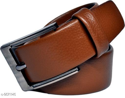 Belts Mens Stylish Belts  *Material* Leather  *Pattern* Solid  *Multipack* 1  *Sizes*   *36 Belt Length * 46  *40 Belt Length * 46  *34 Belt Length * 46  *42 Belt Length * 46  *Sizes Available* 36 *    Catalog Name: Casual Unique Men Belts CatalogID_1689530 C65-SC1222 Code: 764-9571145-