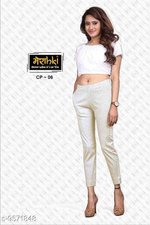 SOLID COTTON LINEN LYCRA FULL STRETCHABLE PANT