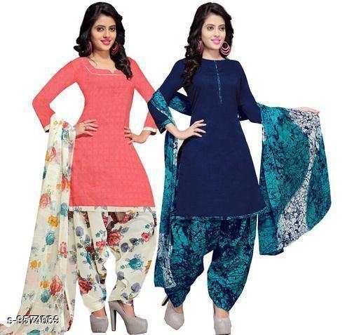 Designer Cotton Printed Suit & Dress Material ( Pack Of 2 )