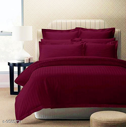 100% Cotton Striped double bed sheet