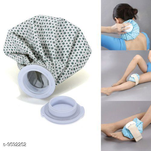 """Water Bag Heat Cold Pack Sports Injury Neck Knee Pain Relief (Multi-Color-9"""" Inch)"""