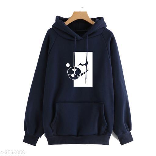 Divra Clothing Unisex Regular Fit Danganronpa monokuma Printed Cotton Hoodie