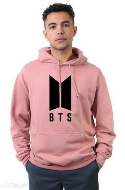 Divra Clothing Unisex Regular Fit BTS Printed Cotton Hoodie