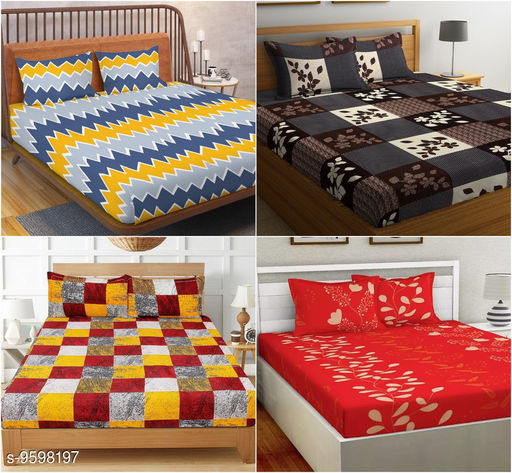 New Stylish 88 X 88 Double Queen Bedsheets