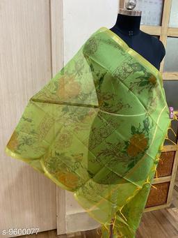 Versatile semi silk digital floral print dupatta