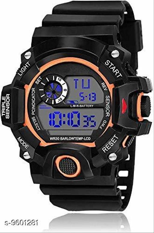 S-Shock Orange  Digital Sport Watch