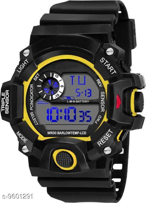 S-Shock Yellow Digital Sport Watch