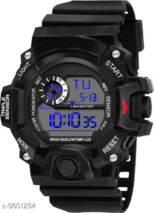S-Shock Black Digital Sport Watch