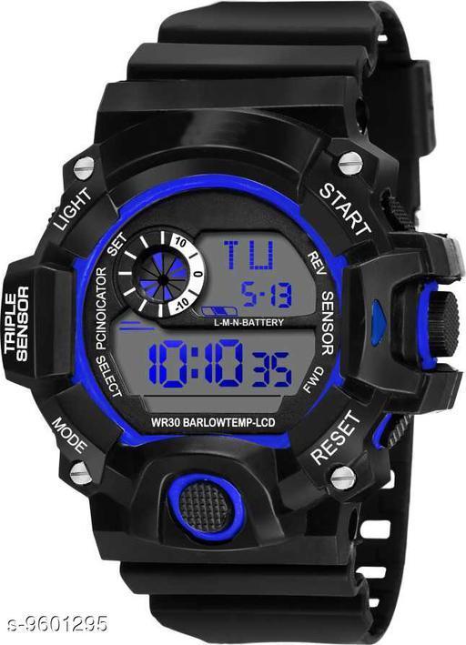 S-Shock Blue Digital Sport Watch