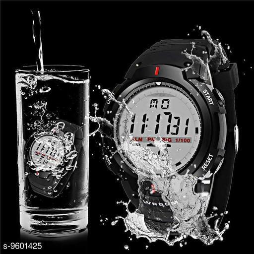 Black Sport Brand Digital Watch