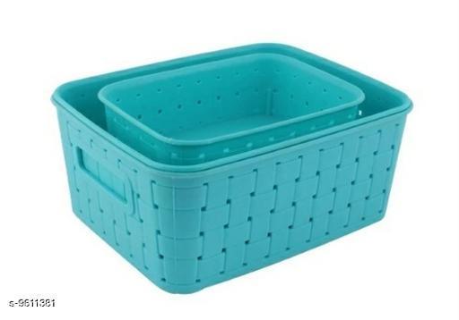 Premium Smart Baskets for Storage(Set of 3) Sky Blue