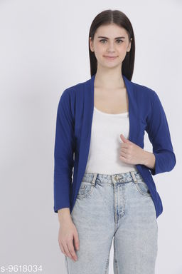 Women Full Sleeve BLUE Shrug