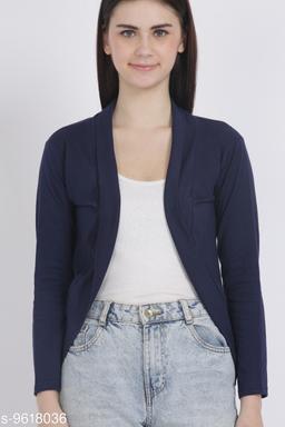Women Full Sleeve NEVY BLUE Shrug