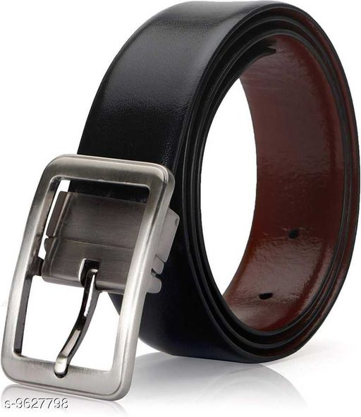 Variety & Capture Men Casual| Formal| Party Black Genuine Leather Belt
