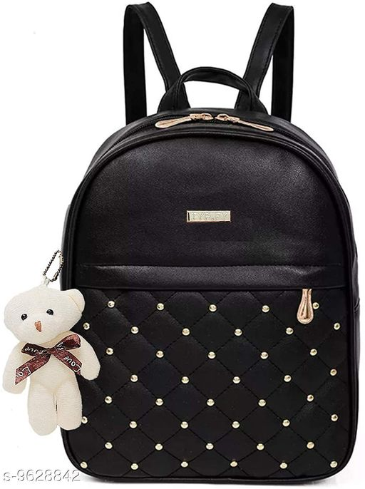 Backpacks Backpack   *Material* Leather  *No. of Compartments* 3  *Sizes*  Free Size  *Sizes Available* Free Size *    Catalog Name: Classic Fancy Women Backpacks CatalogID_1703085 C73-SC1074 Code: 414-9628842-