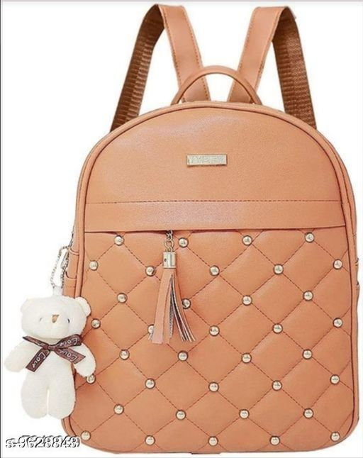 Backpacks Backpack   *Material* Leather  *No. of Compartments* 3  *Sizes*  Free Size  *Sizes Available* Free Size *    Catalog Name: Classic Fancy Women Backpacks CatalogID_1703085 C73-SC1074 Code: 414-9628843-
