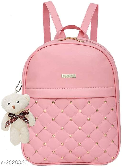 Backpacks Backpack   *Material* Leather  *No. of Compartments* 3  *Sizes*  Free Size  *Sizes Available* Free Size *    Catalog Name: Classic Fancy Women Backpacks CatalogID_1703085 C73-SC1074 Code: 414-9628846-