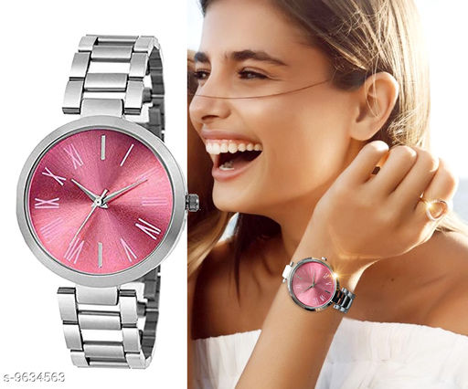 attractive dial colour steel strap watch for girls