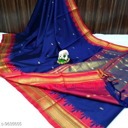 Lastet Trendy Stylish Womens Cotton Silk Saree