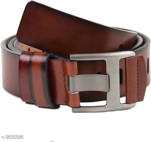 Variety & Capture Gold Artificial Leather Belt For Women