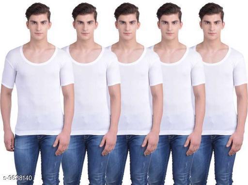 Innerwear Vests Mens Cotton Vest  *Fabric* Cotton  *Multipack* 5  *Sizes*   *M (Length Size* 26 in)  *Sizes Available* M *    Catalog Name: Stylus Men Vest CatalogID_1705269 C68-SC1217 Code: 955-9638140-