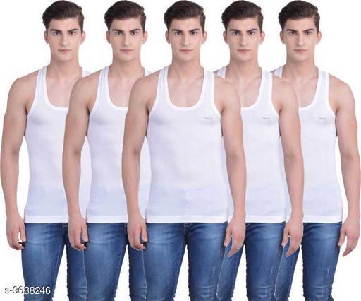 Innerwear Vests Mens Cotton Vest  *Fabric* Cotton  *Multipack* 5  *Sizes*   *M (Length Size* 26 in)  *Sizes Available* M *    Catalog Name: Sassy Men Vest CatalogID_1705293 C68-SC1217 Code: 435-9638246-