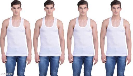 Innerwear Vests Mens Cotton Vest  *Fabric* Cotton  *Multipack* 4  *Sizes*   *M (Length Size* 26 in)  *Sizes Available* M *    Catalog Name: Sassy Men Vest CatalogID_1705293 C68-SC1217 Code: 434-9638248-