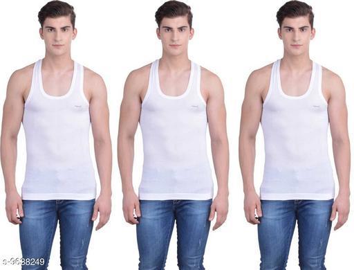 Innerwear Vests Mens Cotton Vest  *Fabric* Cotton  *Multipack* 3  *Sizes*   *M (Length Size* 26 in)  *Sizes Available* M *    Catalog Name: Sassy Men Vest CatalogID_1705293 C68-SC1217 Code: 433-9638249-