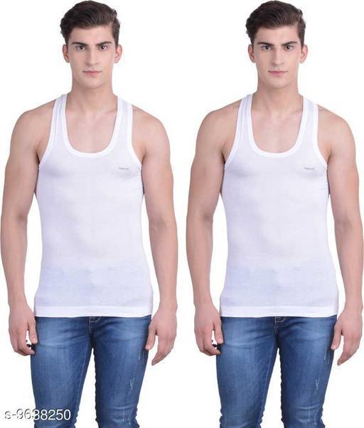 Innerwear Vests Mens Cotton Vest  *Fabric* Cotton  *Multipack* 2  *Sizes*   *M (Length Size* 26 in)  *Sizes Available* M *    Catalog Name: Sassy Men Vest CatalogID_1705293 C68-SC1217 Code: 652-9638250-