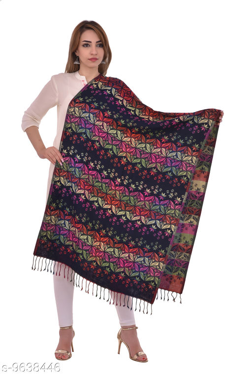 """Women's Wollen Aztec Design Printed Stole, Wraps (Size 30"""" X 80"""")"""