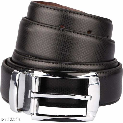 Men Casual Grey Artificial Leather Belt