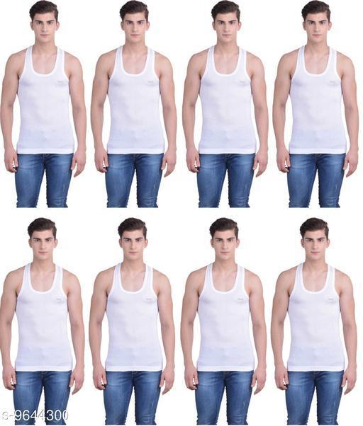 Innerwear Vests Mens Cotton Vest  *Fabric* Cotton  *Multipack* 8  *Sizes*   *M (Length Size* 26 in)  *Sizes Available* M *    Catalog Name: Latest Men Vest CatalogID_1706708 C68-SC1217 Code: 918-9644300-