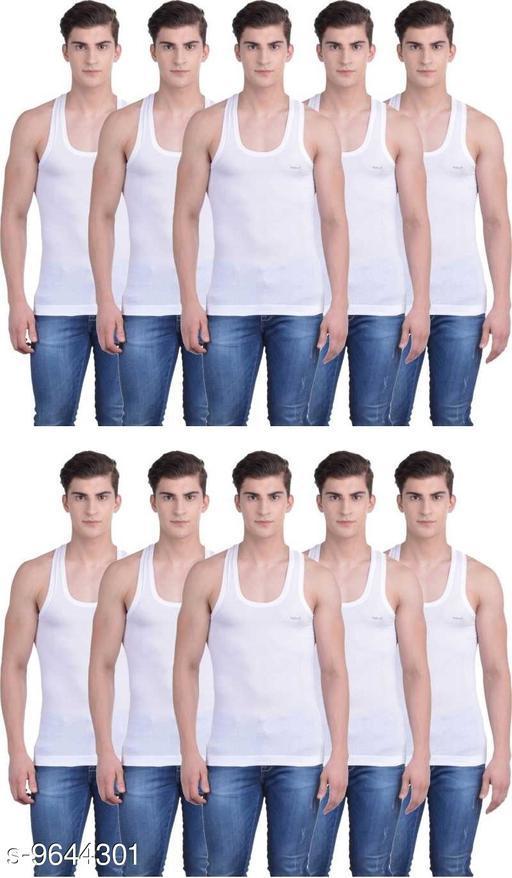 Innerwear Vests Mens Cotton Vest  *Fabric* Cotton  *Multipack* 10  *Sizes*   *M (Length Size* 26 in)  *Sizes Available* M *    Catalog Name: Latest Men Vest CatalogID_1706708 C68-SC1217 Code: 489-9644301-
