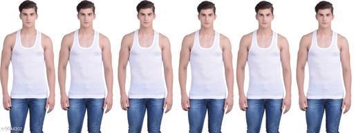 Innerwear Vests Mens Cotton Vest  *Fabric* Cotton  *Multipack* 6  *Sizes*   *M (Length Size* 26 in)  *Sizes Available* M *    Catalog Name: Latest Men Vest CatalogID_1706708 C68-SC1217 Code: 426-9644302-