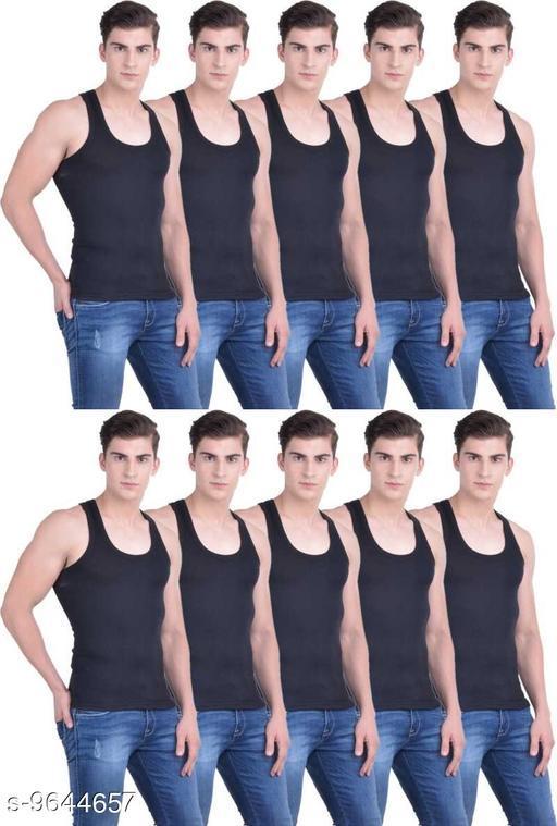 Innerwear Vests Mens Cotton Vest  *Fabric* Cotton  *Multipack* 10  *Sizes*   *M (Length Size* 26 in)  *Sizes Available* M *    Catalog Name: Comfy Men Vest CatalogID_1706791 C68-SC1217 Code: 4301-9644657-