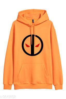 Divra Clothing Unisex Regular Fit Deadpool Printed Cotton Hoodie