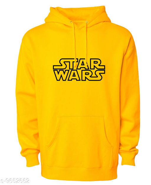 Divra Clothing Unisex Regular Fit Star Wars Printed Cotton Hoodie