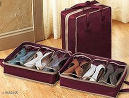 MAYNEISHA Travel Shoe Organizer Space Saving Fabric Storage Bags, Shoe Tote 6 Pair Shoes Organizer