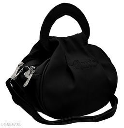 Beautiful Women's Black PU Slingbag