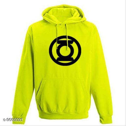 Divra Clothing Unisex Regular Fit Lantern Printed Cotton Hoodie