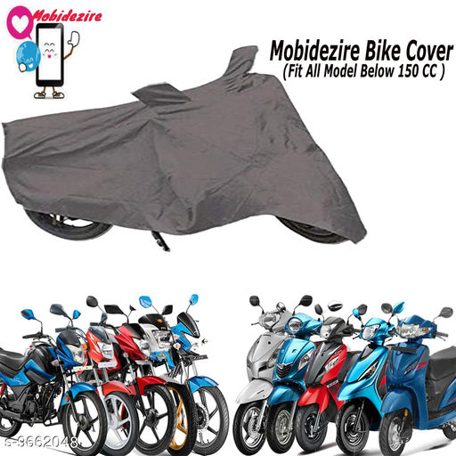 Mobidezire Two Colour Bike/Scooty Cover For Tvs (Below 150Cc)