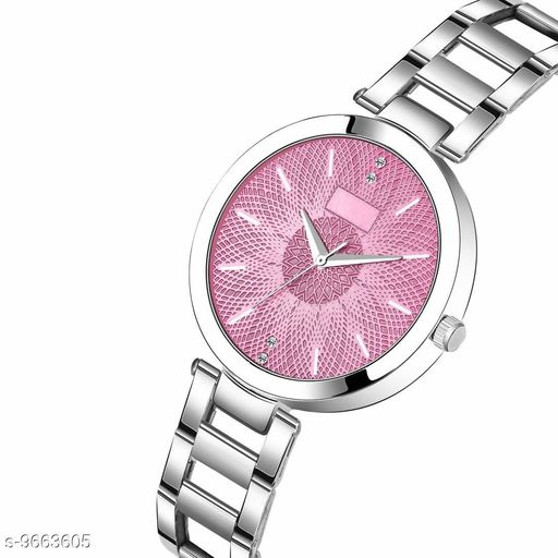 Pick  Dial Silver Chain Belt MT Analogue Watch for Girl's and Women's Pack of - 1 (MT-203)