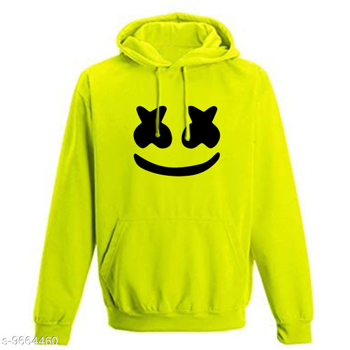 Divra Clothing Unisex Regular Fit marchamalo Printed Cotton Hoodie